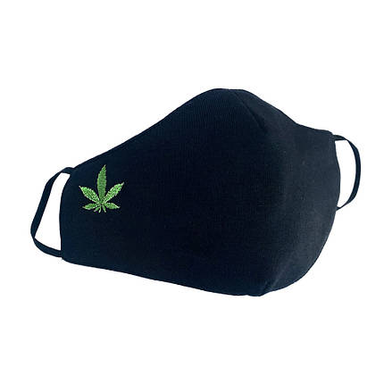"Защитная маски для лица ""Leaf"" черная, фото 2"