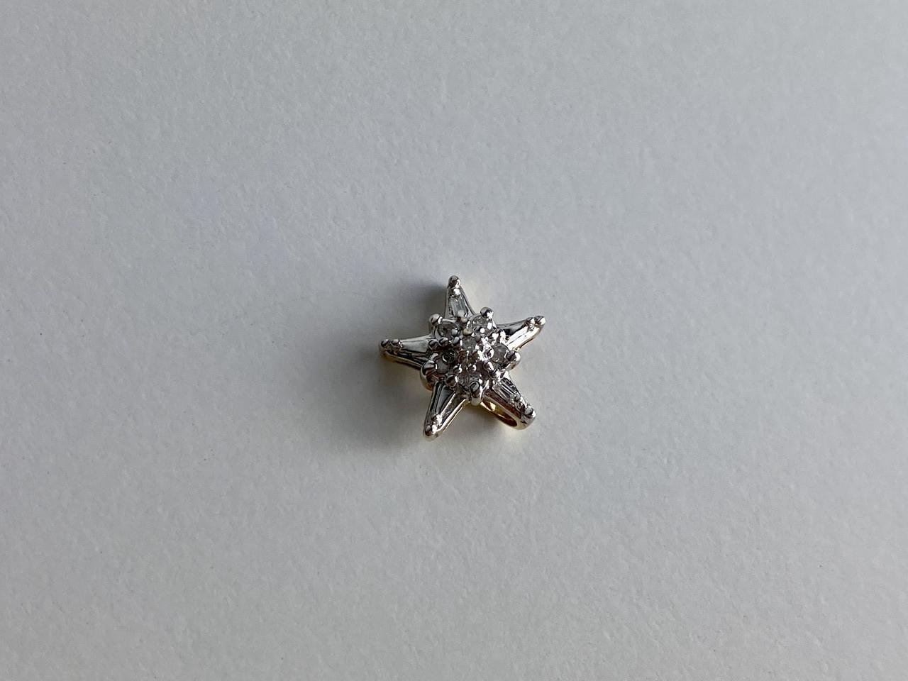 Золотой кулон с бриллиантами Звезда