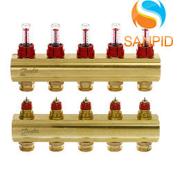 Колектор теплої підлоги Danfoss FHF-5F c ротаметрами 088U0525