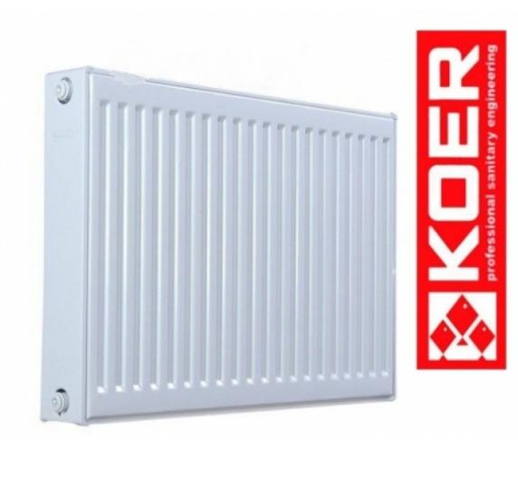 Радиатор стальной Koer 22k 500*1000 нижнее подключение с термоклапаном