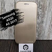 Чехол книжка для Samsung A5 2017 (A520) Золотой