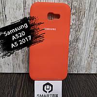 Силиконовый чехол для Samsung A5 2017 (A520) Ярко розовый