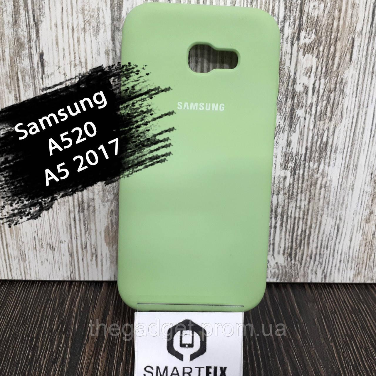 Силиконовый чехол для Samsung A5 2017 (A520) Светло-зеленый