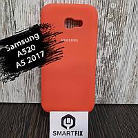 Силиконовый чехол для Samsung A5 2017 (A520) Розовый