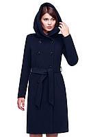 Женское кашемировое  пальто синего цвета   Nui Very (Нью вери) Мелина по низким ценам