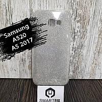 Блестящий чехол для Samsung A5 2017 (A520) Серебристый, фото 1