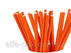Соломка бумажная оранжевая