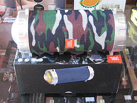 Портативная колонка S07 - мобильная bluetooth колонка cо светомузыкой, FM радио, MP3 плеер (Хаки), фото 2