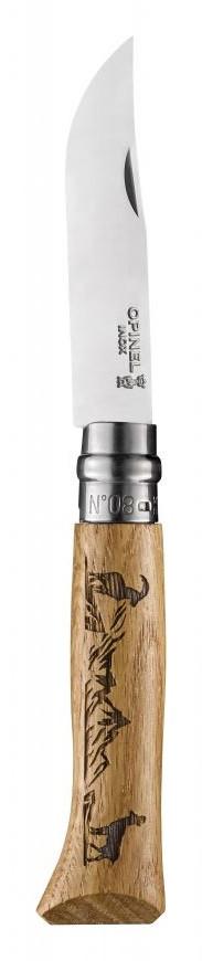 Нож складной для выживания Opinel Tradtion N°08 INOX ANIMALIA CHAMOIS. ПРЕМИУМ КЛАСС