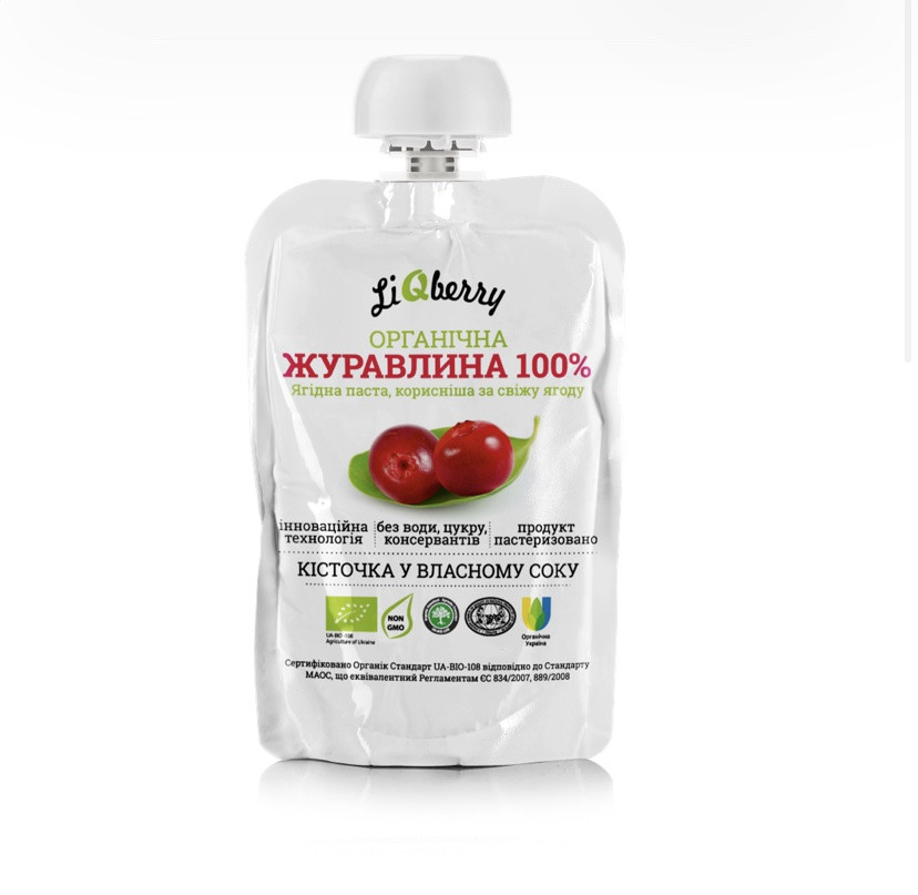 Журавлинна паста «LiQberry», 100 мл (дой-пак)