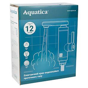 Кран-водонагреватель проточный NZ 3.0кВт 0,4-5бар для кухни гусак гофрированный на гайке AQUATICA (NZ-6B312W), фото 2
