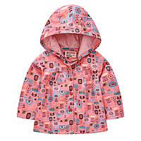 Куртка-ветровка для девочки Цветочный орнамент