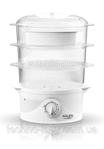 Пароварка Adler AD 633 емкость 9 литров мощность 800 вт