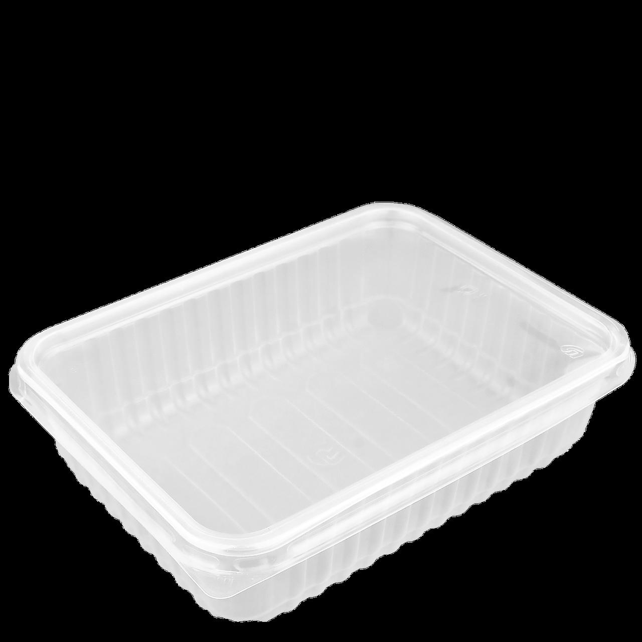 Контейнер с крышкой для еды 750 мл прозрачный