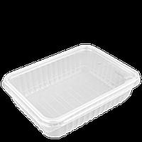 Контейнер с крышкой для еды 750 мл прозрачный, фото 1