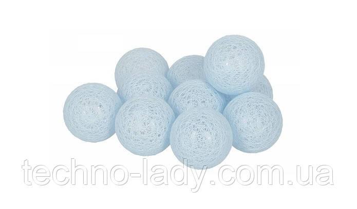Гирлянды Cotton Balls Sky Тайские Шарики 10led, диам 6см, длина 180см на батарейках АА