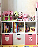 Стеллаж для игрушек и книг на 6 ячеек