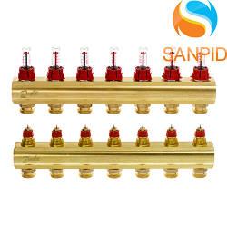Колектор теплої підлоги Danfoss FHF-7F c ротаметрами 088U0527