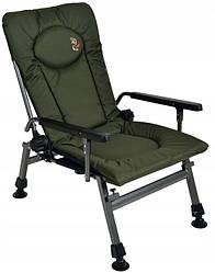 Кресло карповое рыбацкое Elektrostatyk F5R с подлокотниками, 2020 Новая модель