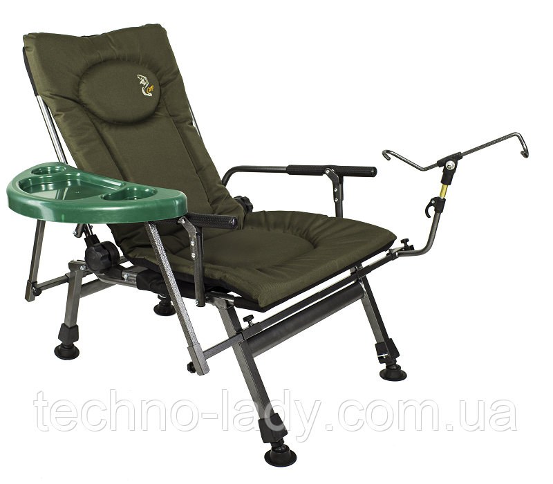 Кресло карповое new2020 Elektrostatyk F5R ST/P столиком и держателем удочки