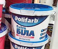 Краска для стен и потолка Полифарб СНЕЖИНКА водно-дисперсионная экстрабелая 4,2кг