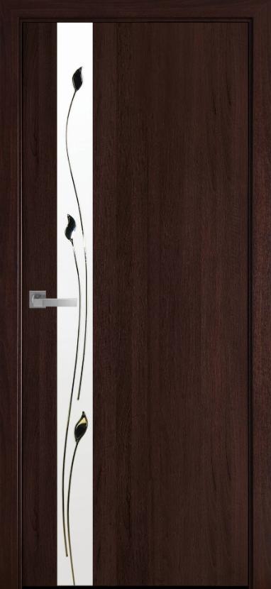 """Двери межкомнатные Новый стиль Квадра """"Злата"""" 60,70,80,90 Каштан"""