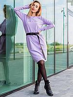 Стильное трикотажное платье женское 3067, фото 1