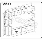 Вітальня BOX, набір F1, білий глянець, чорний глянець, МИРОМАРК, фото 2