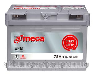 Аккумулятор автомобильный A-Mega EFB 78AH R+ 790A
