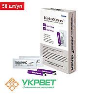 Тест-смужки для визначення рівня кетонів у крові Keto Sens, 50 шт/уп