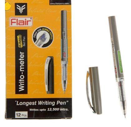 Ручка, шариковая, масляная черная 12,5 км Flair Writometer Jumbo № 871B 12 шт пачка