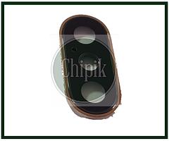 Стекло (окошко камеры) для Apple iPhone XS, XS Max, iPhone 10S, iPhone 10S Max, золотое кольцо
