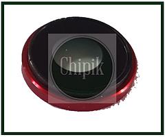 Стекло (окошко камеры) для Apple iPhone XR, iPhone 10R, красное кольцо