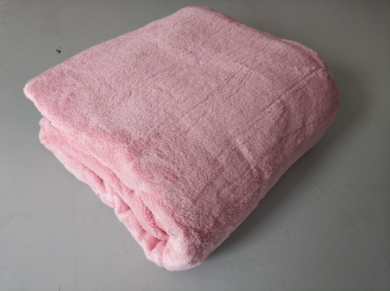 Микрофибровая простынь, плед, покрывало Elway полуторное Однотонный розово-лиловый