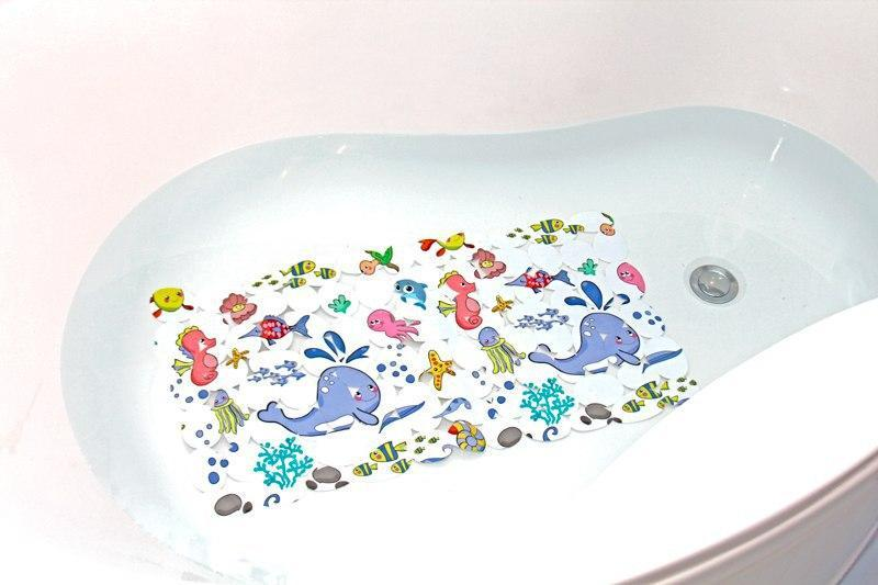 Антиковзаючий захисний килимок у ванну на присосках LN8666