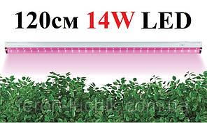 Фитосветильник лінійний світлодіодний Feron AL7000 14W 1200 мм (Фитолампа повного спектру)