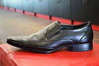 Туфли мужские черные кожаные TJTJ ( модные, стильные, новинки весна, лето, осень) , фото 1