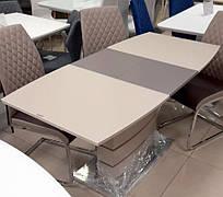 Стол обеденный раскладной Houston MINI Mokko Satin (Хьюстон мини)  Evrodim, цвет мокко