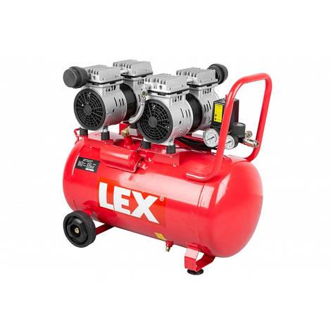 Безмасляний безшумний компресор LEX LXAC60-22LO - ємність 60 літрів, фото 2