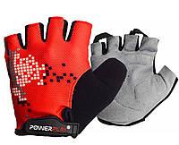 Велорукавички PowerPlay 002 B Червоні S, фото 1