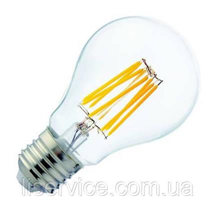 """Лампа Светодиодная """"Filament Globe - 8"""" 8W A60 Е27 4200К, фото 2"""