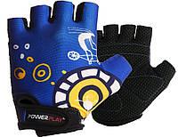 Велорукавички PowerPlay 001 C Сині XS, фото 1