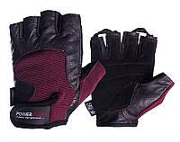 Рукавички для фітнесу PowerPlay 2154 Чорно-Коричневий L, фото 1