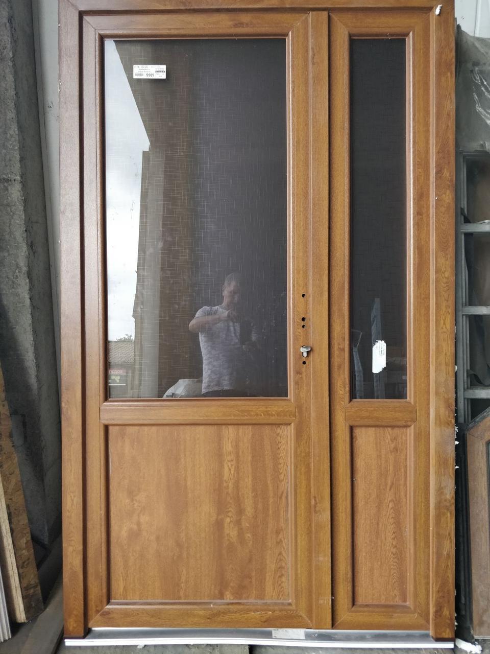 Готовые двери ПВХ ламинация золотой дуб