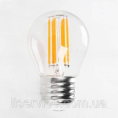 """Лампа светодиодная  """"FILAMENT MINI GLOBE-6"""" 6W 4200К  E27, фото 2"""