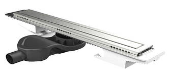 Душевой лоток EviMetal Compact Line CDK с фланцем и решеткой под плитку 70 см