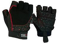 Рукавички для фітнесу PowerPlay 1736 жіночі Чорні S, фото 1