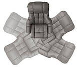 Крісло Relax  Calgar XXL Chair Muddy для відпочинку з підставкою під ноги шкіряне основа Натуральна, фото 3