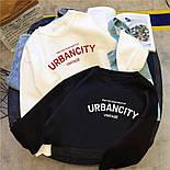 Женский свитшот на флисе UrbanCity черный и белый, фото 2