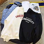 Женский свитшот на флисе UrbanCity черный и белый, фото 4